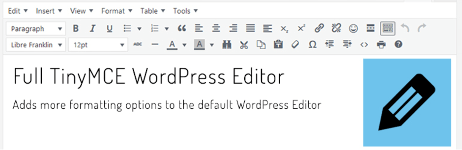 Full TinyMCE WordPress Editor