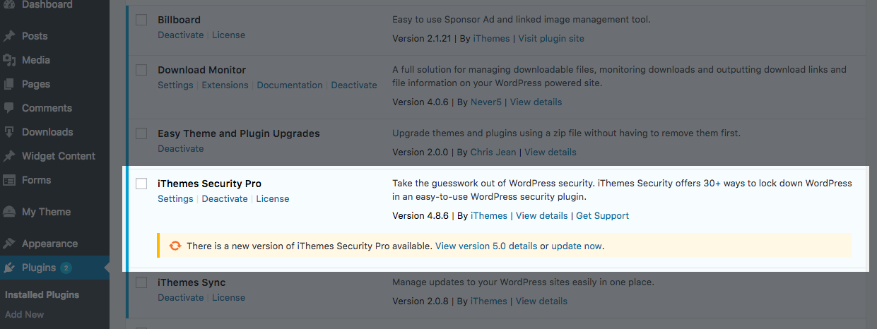 iThemes Security 5.0