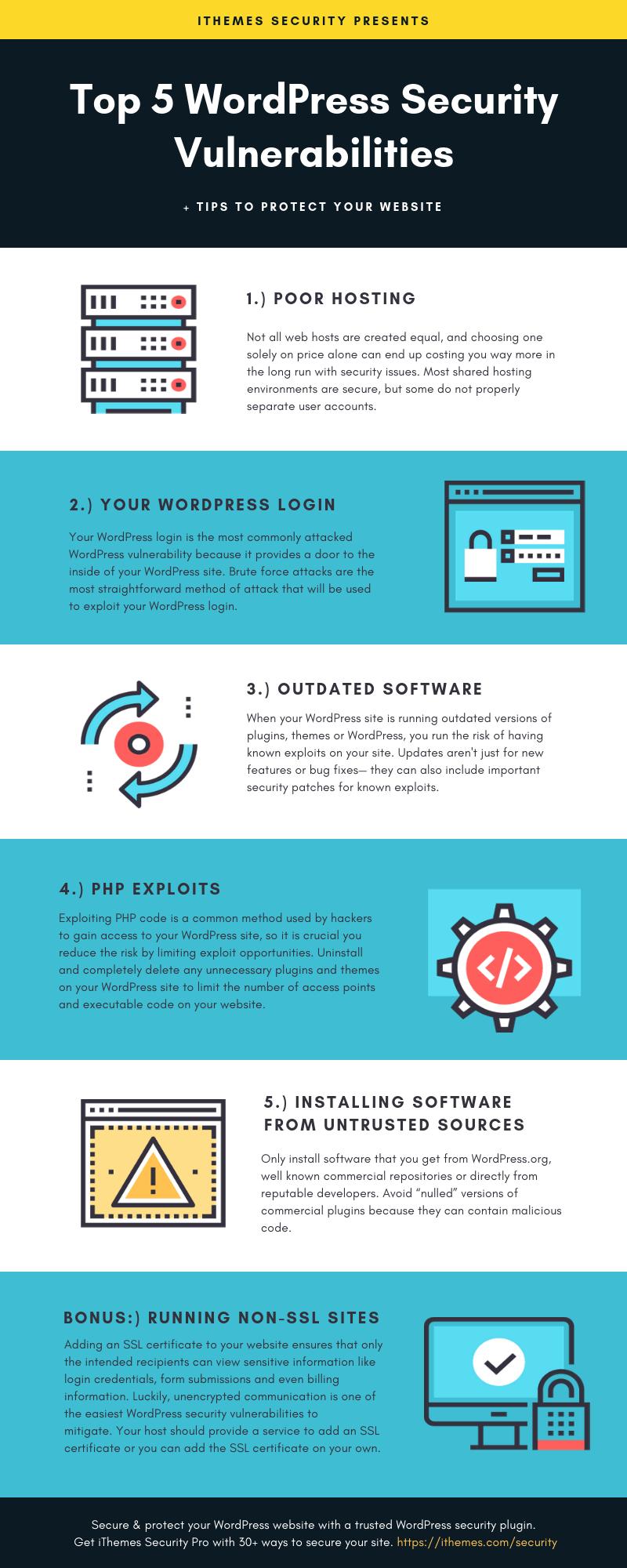 The Top 5 WordPress Security Vulnerabilities