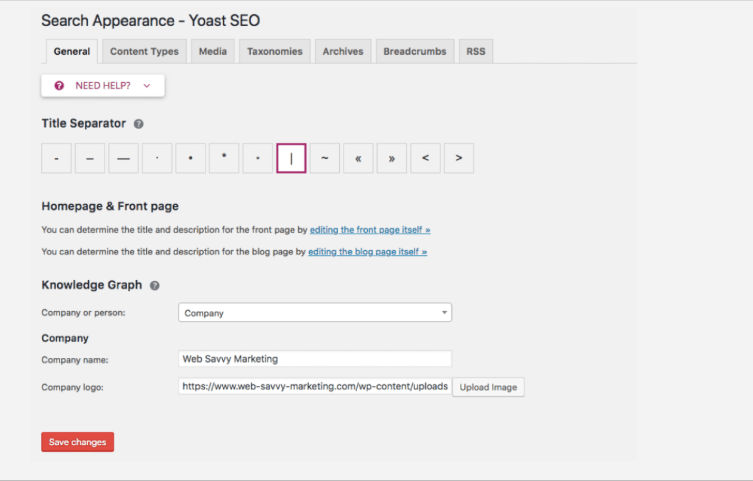 Search Appearance - Yoast SEO