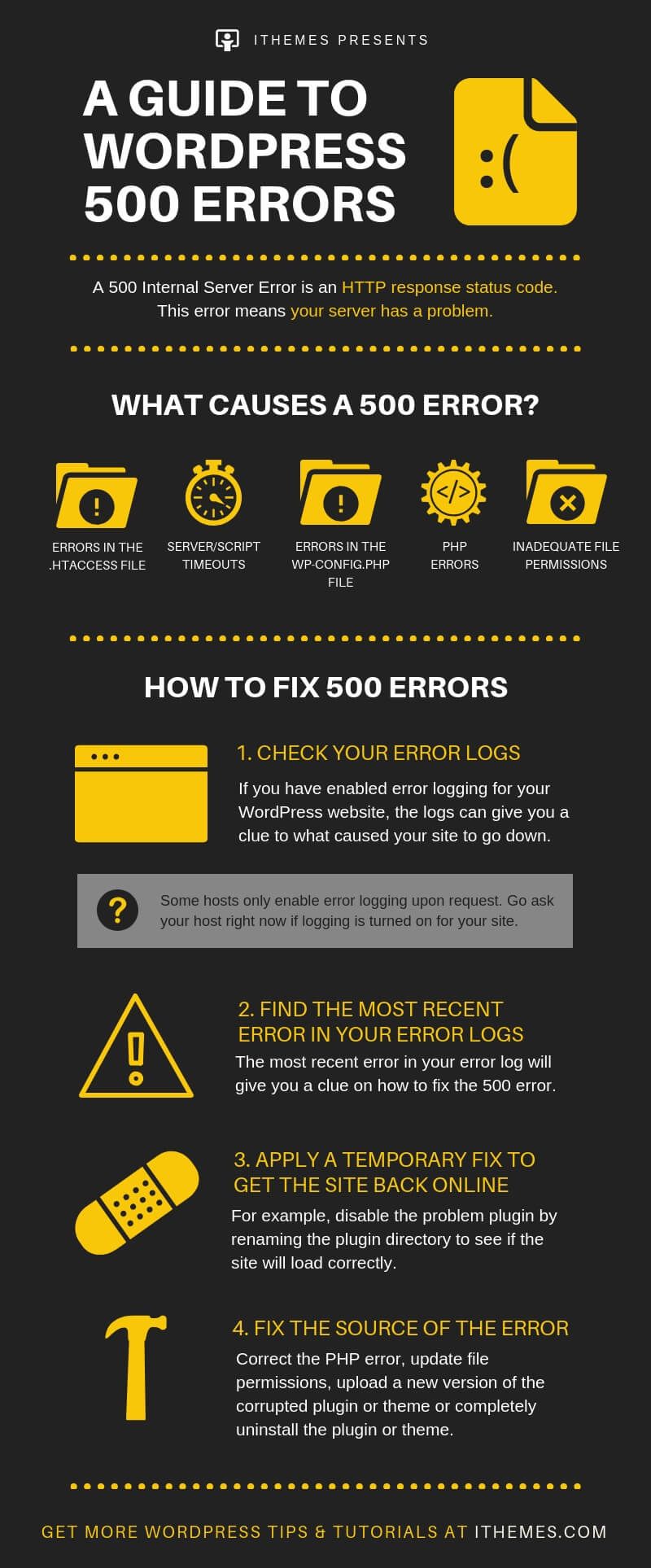 how to fix 500 errors