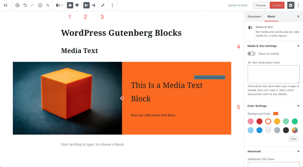 MediaText block