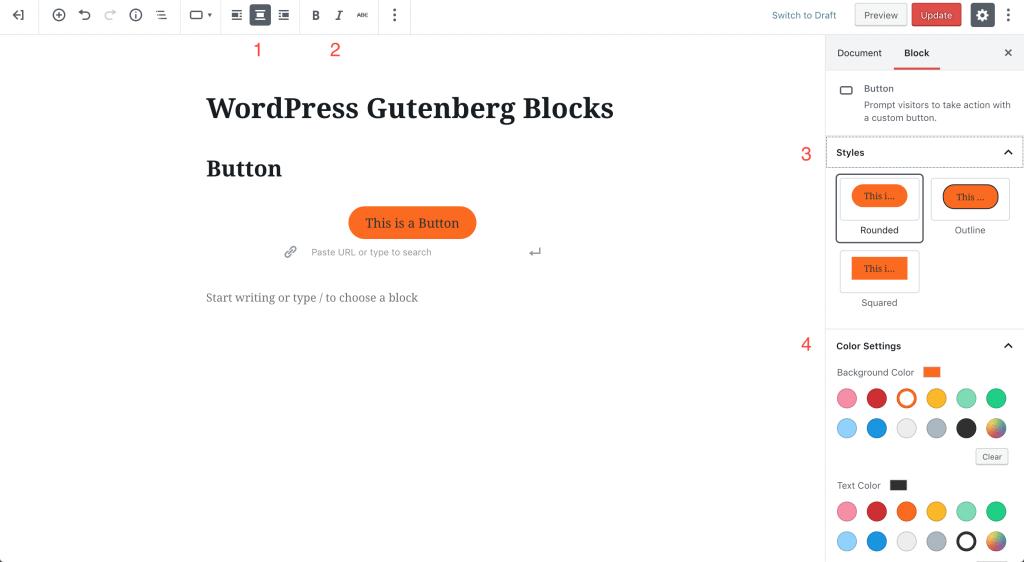 button block