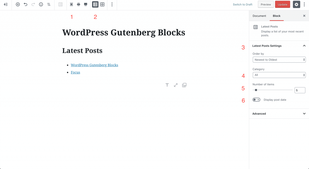 posts block