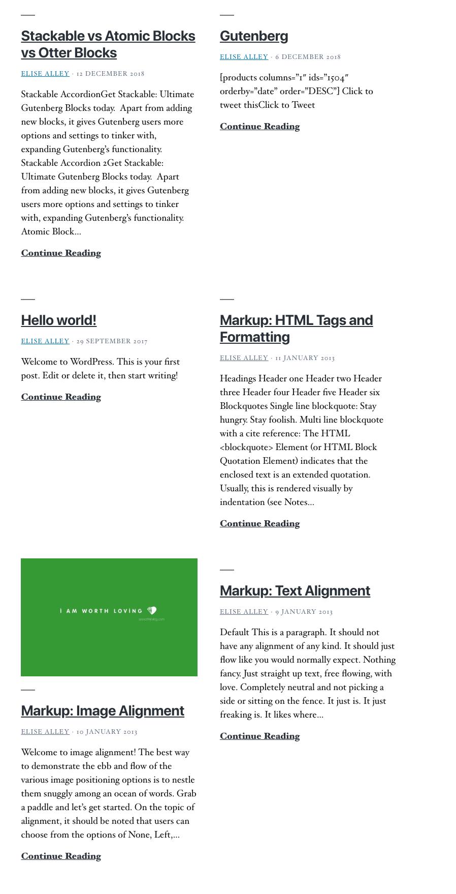 WordPress Gutenberg Atomic Post Block