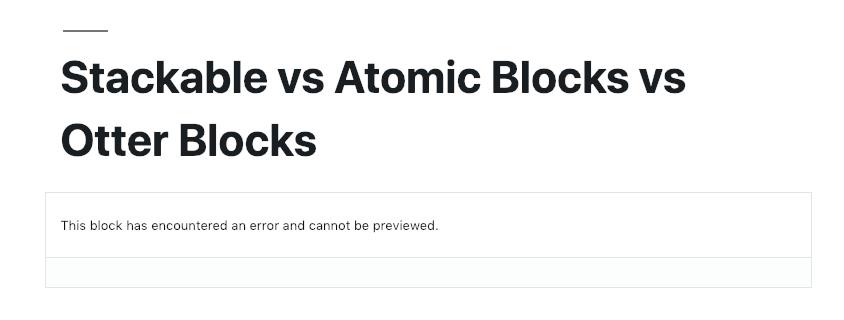 WordPress Gutenberg Otter Post Block