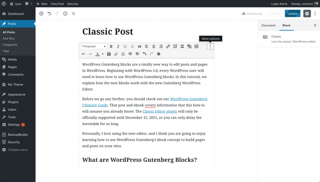 How To Convert Existing WordPress Posts to Gutenberg Blocks