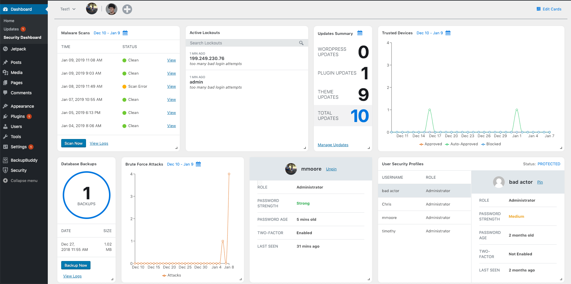 Monitor WordPress Security Activity with the iThemes Security Dashboard