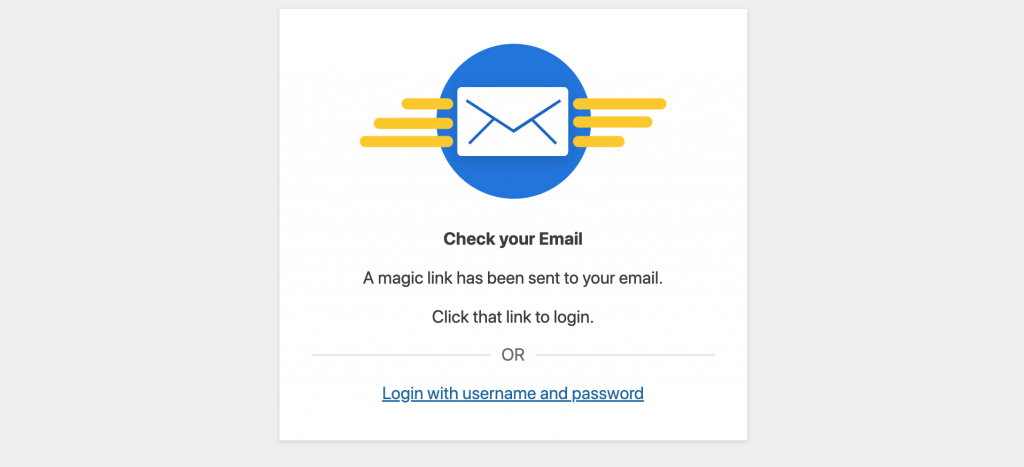 Passwordless Login Check Email