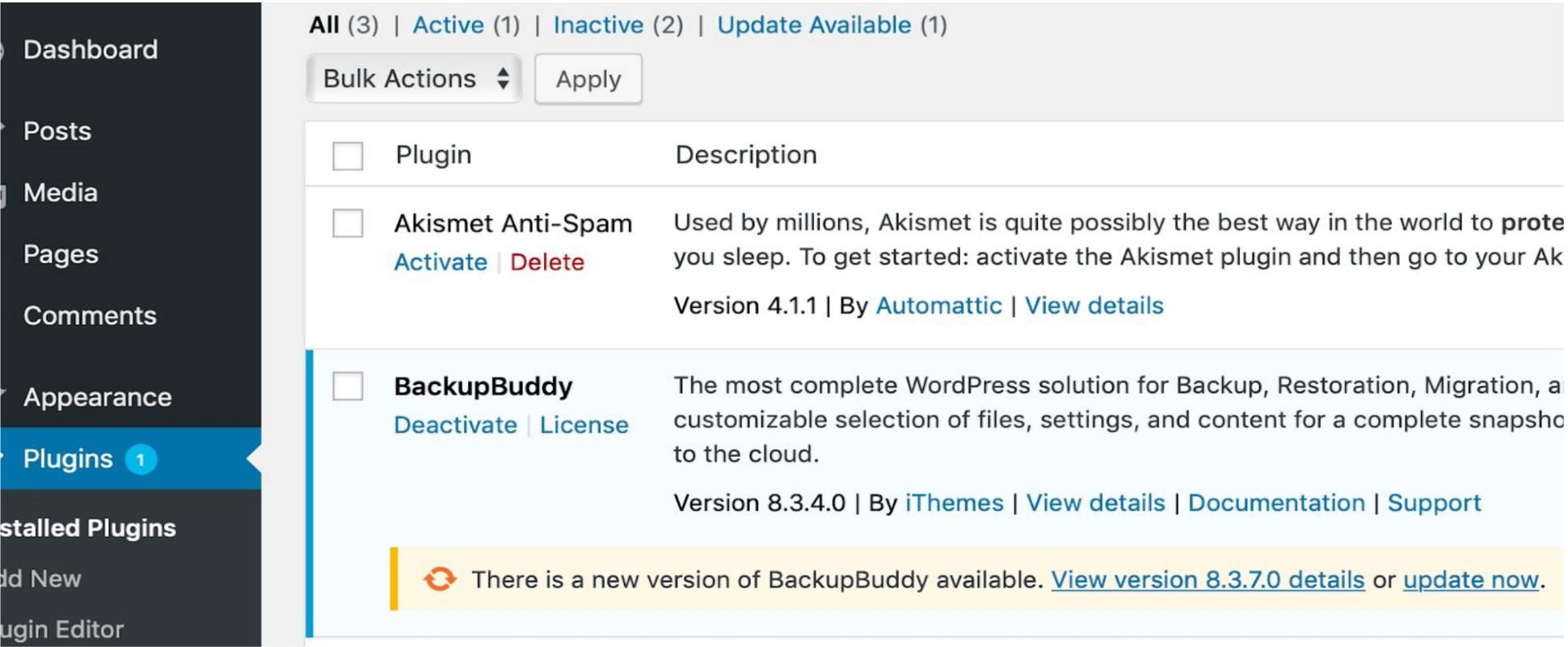 update backupbuddy