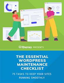 ultimate wordpress maintenance checkilst