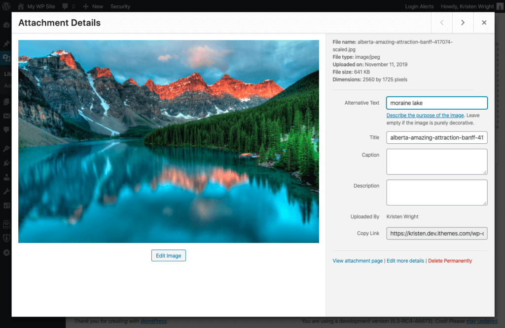 wordpress 5.3 image resizing