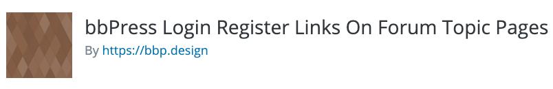 bbPress Login Register Links On Forum Topic Pages Logo
