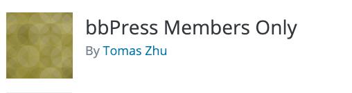 bbPress Members Only Logo