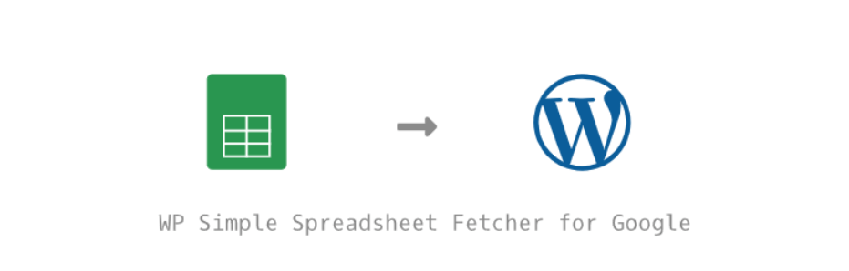 WP Simple Spreadsheet Fetcher for Google Logo