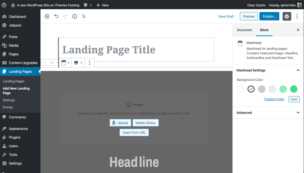 wordpress-landing-pages-block-editor