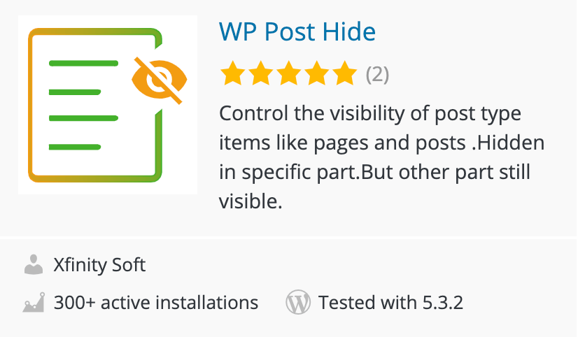 Hiding Posts in WordPress