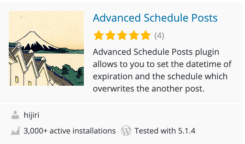 Advanced Scheduled Posts Plugin