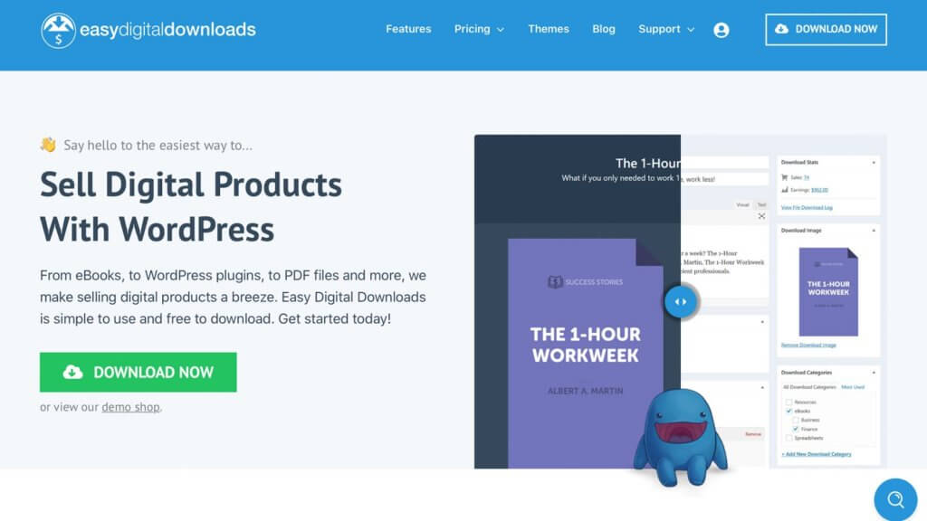 Easy Digital Downloads is one of the most popular and best WordPress download manager plugins.