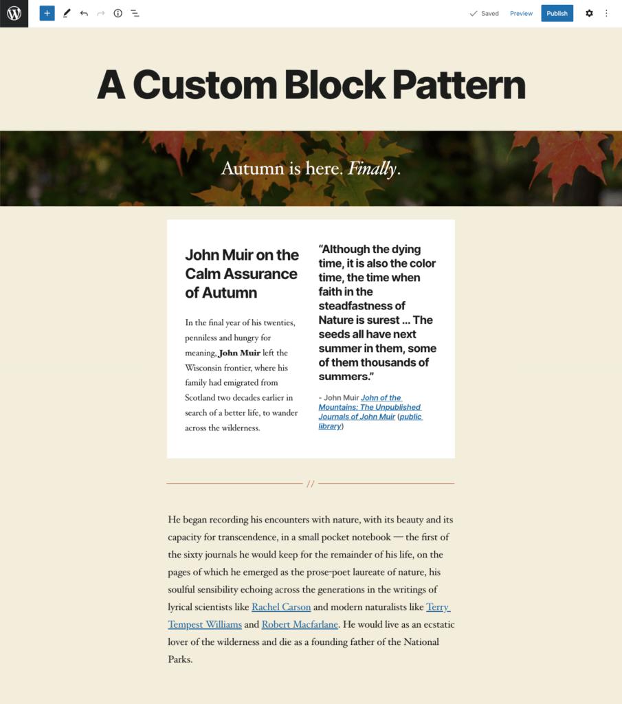 how to build wordpress block patterns