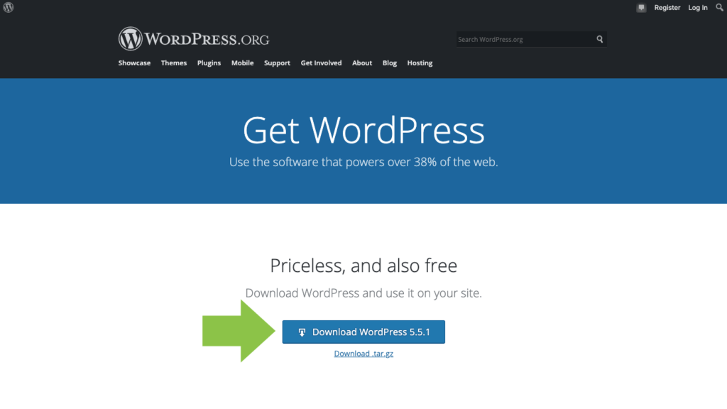 how to download WordPress