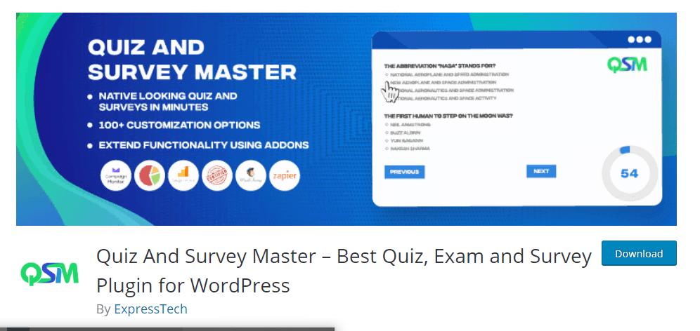 Quiz and Survey Master
