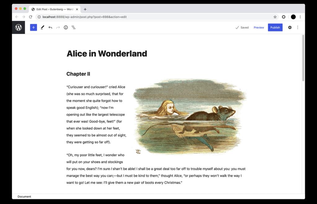 wordpress block editor font