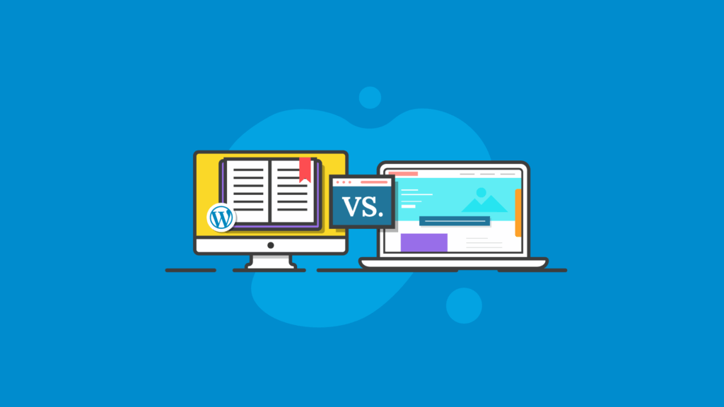 WordPress blog vs. website