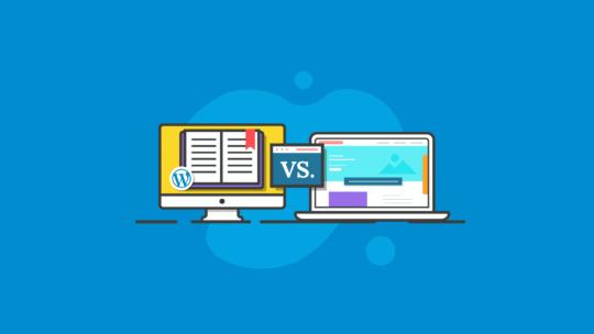WordPress blog vs. website
