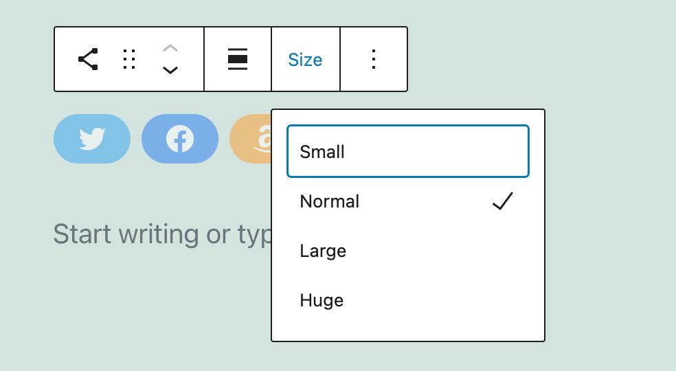 wordpress social icons size
