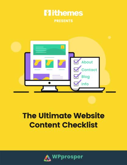 website content checklist