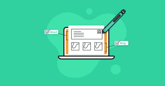 Wireframe in WordPress